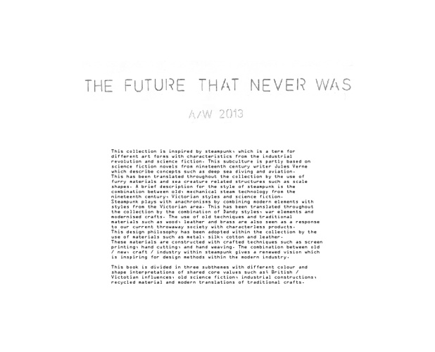 The future that never was