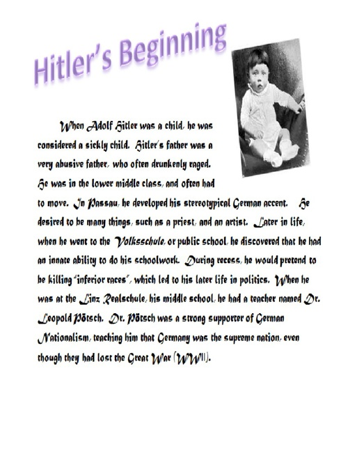 WWII and Hitler