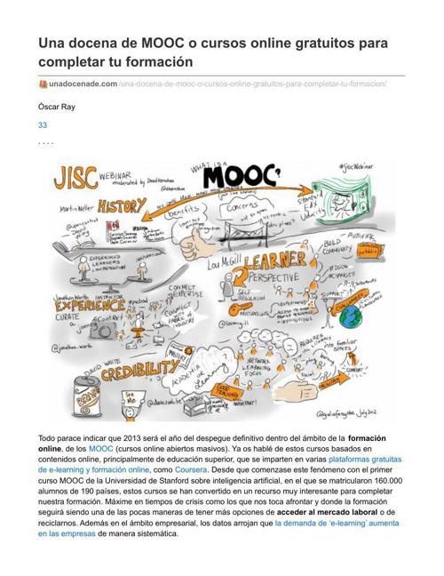 Una docena de MOOC o cursos online gratuitos para completar tu f