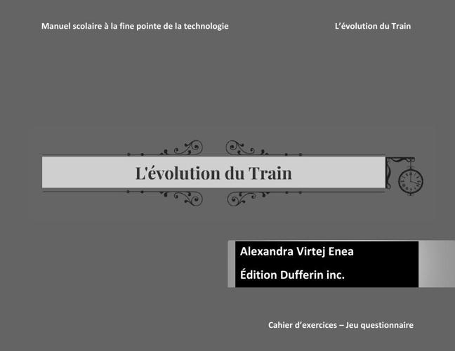 livre evolution du train