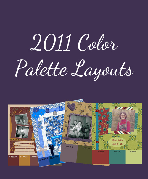 2011 Color Palette Layouts