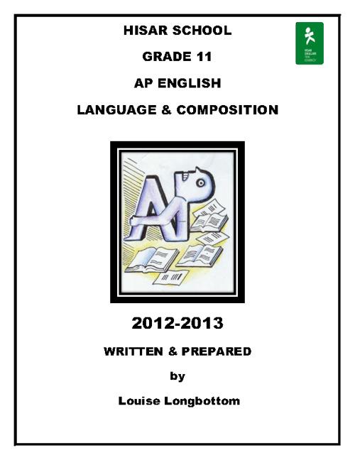 Hisar Grade 11 AP-English
