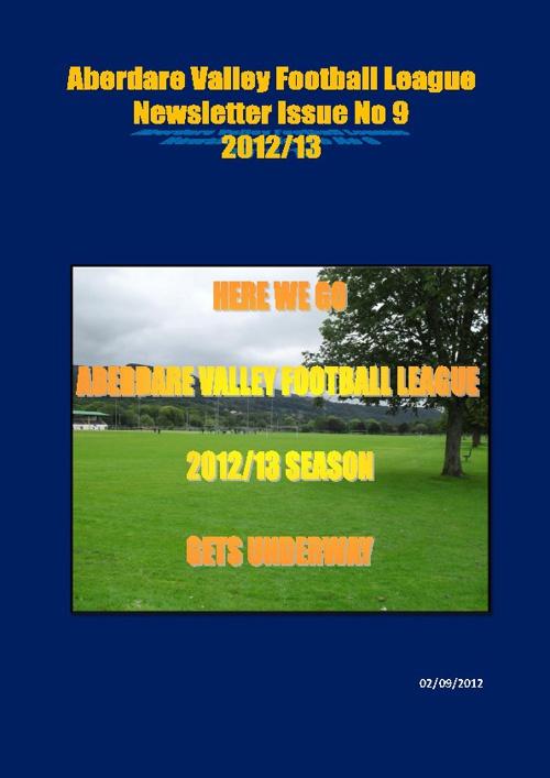 ABERDARE VALLEY FOOTBALL LEAGUE NEWSLETTER ISSUE 9