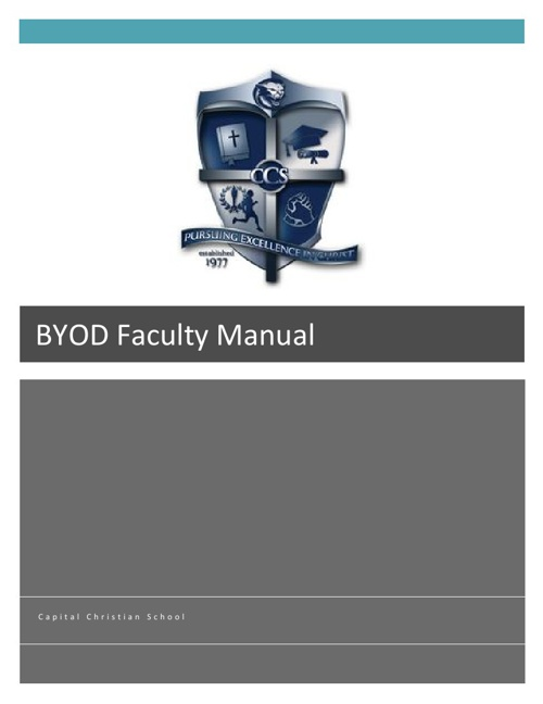 Capital Christian School BYOD Teacher Manual