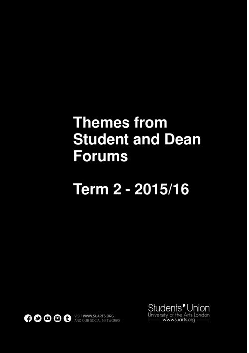 Student and Dean Forums Term 2 2016