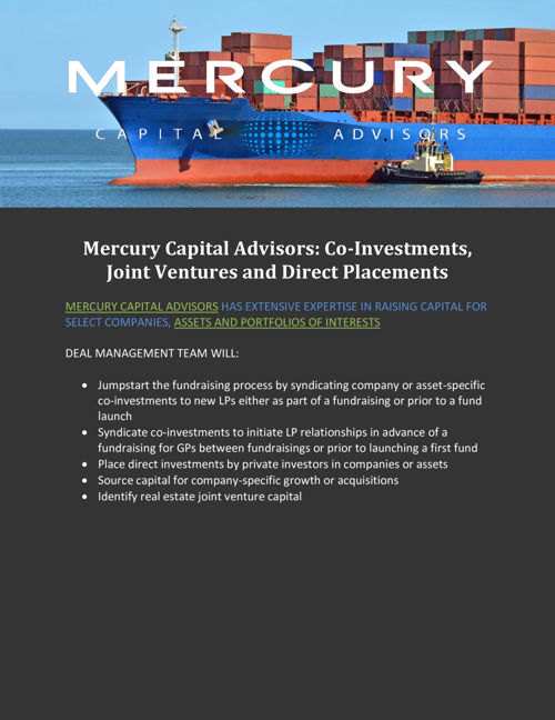Co-Investments, Joint Ventures and Direct Placements