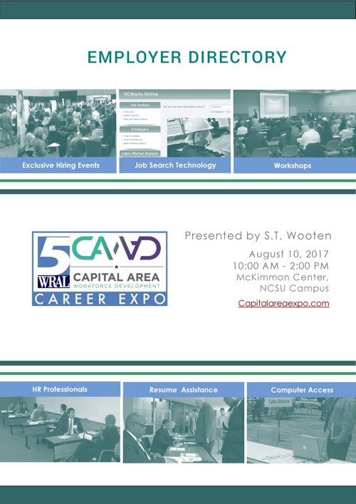 WRAL Capital Area Expo Employer Directory - 2017