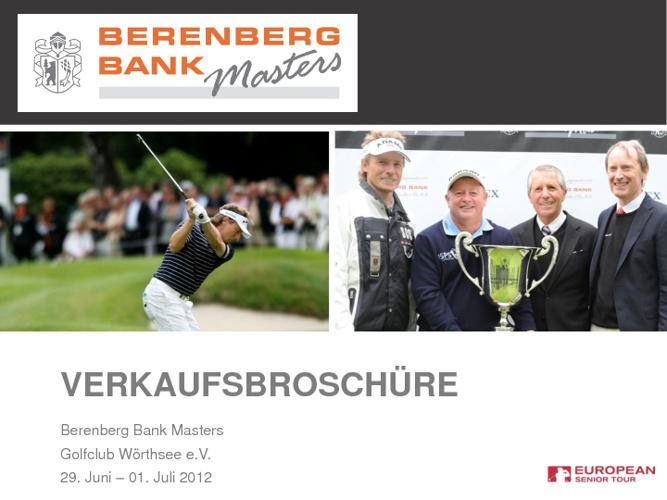 Berenberg Bank Masters - Verkaufsbroschüre