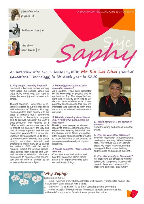 SAPHY: Issue 1 (Mar)