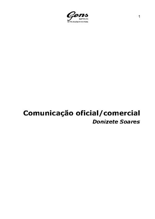 Comunicação Oficial/Comercial