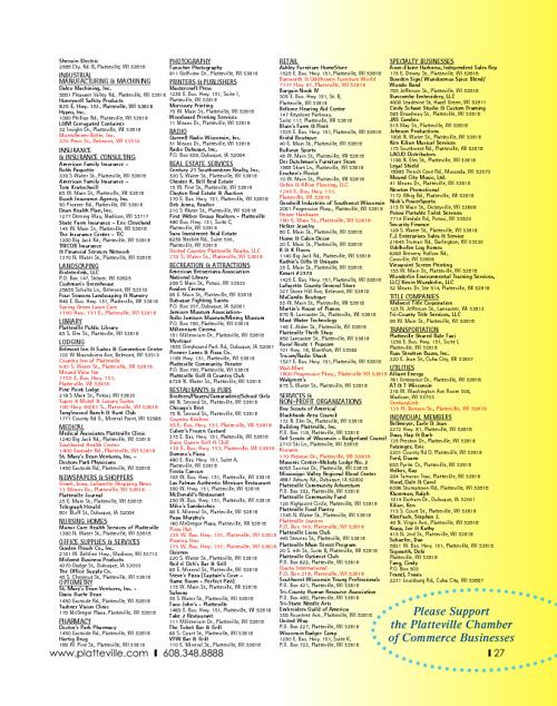 Platteville Visitor's Guide - 2012