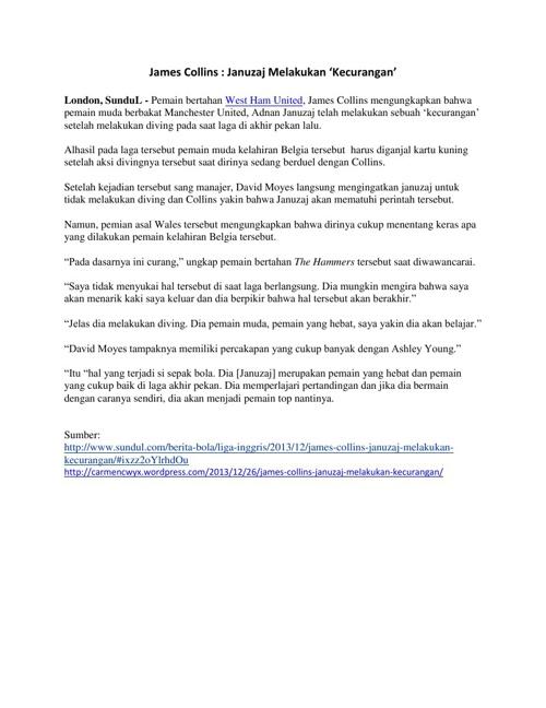 James Collins : Januzaj Melakukan 'Kecurangan'