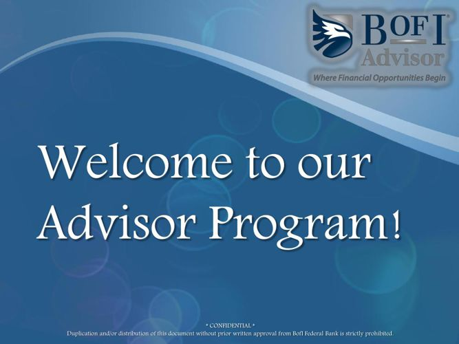 BofI Advisor Program Overview