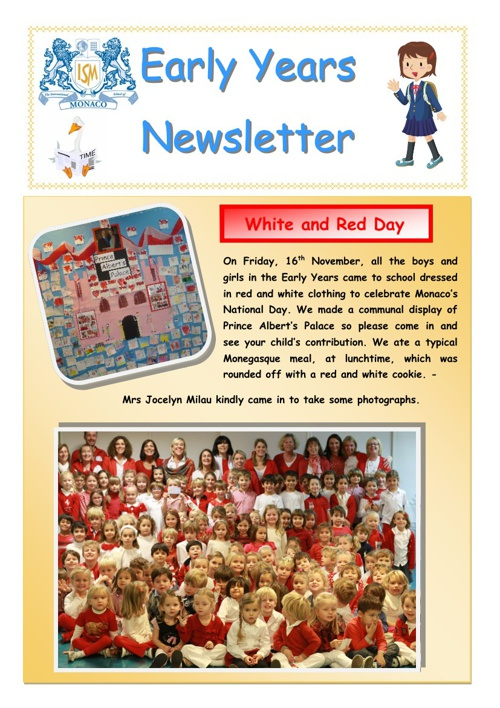 Early Years November Newsletter