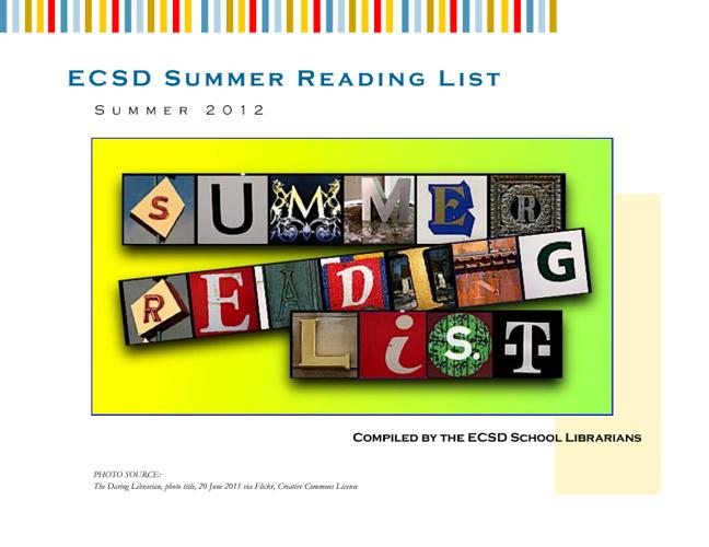 ECSD Summer Reading List