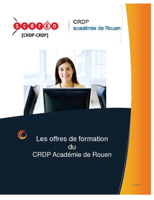 catalogue CRDP