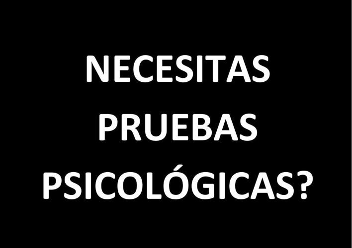 NECESITAS PRUEBAS PSICOLÓGICAS 2