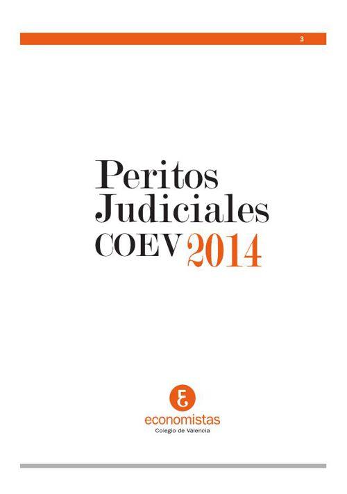 Peritos Judiciales COEV 2014