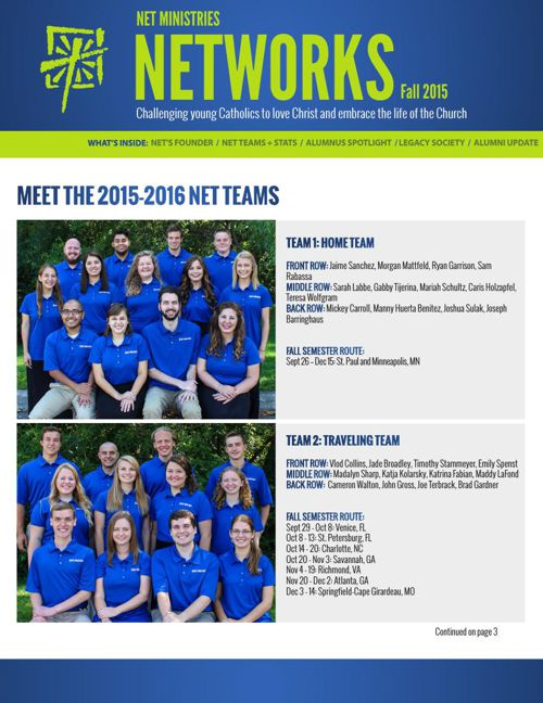 NET Ministries Fall 2015 Newsletter