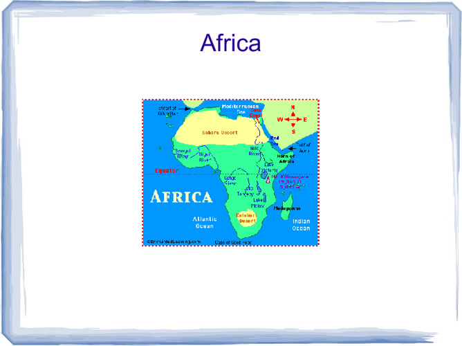 Africa from a Libre Presentation
