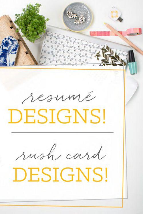 Resume & Rush Card Catalog