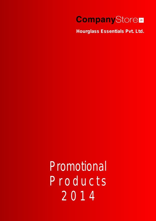 CompanyStore.IN 2014 Promotional Products Catalogue