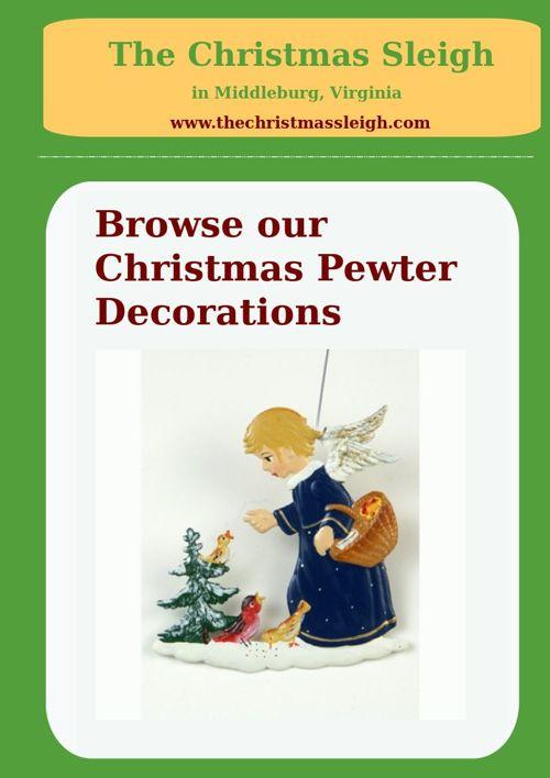 The Christmas Sleigh - Christmas Pewter