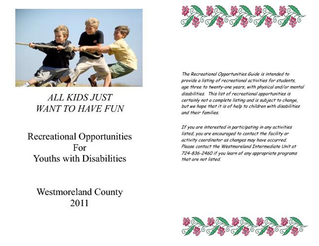Recreational Opportunities Brochure