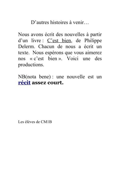 """Copy of Les """"C'est Bien"""" des CM1"""