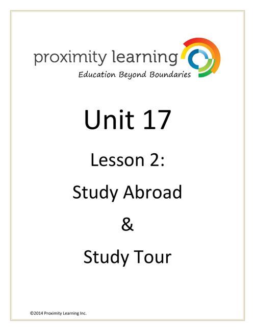CHN 3 Unit 17 Lesson 2:  Study Abroad