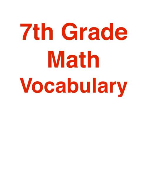 7th Math Voc Chp 1 & 2