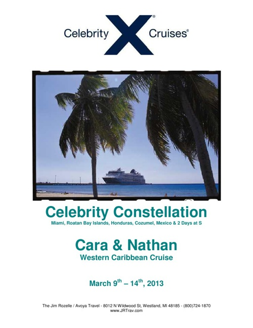 Cara & Nathan Western Caribbean Cruise