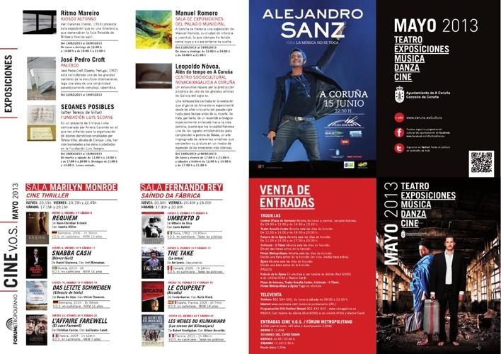 Maio 2013 na Coruña: cultura, eventos, concertos,...