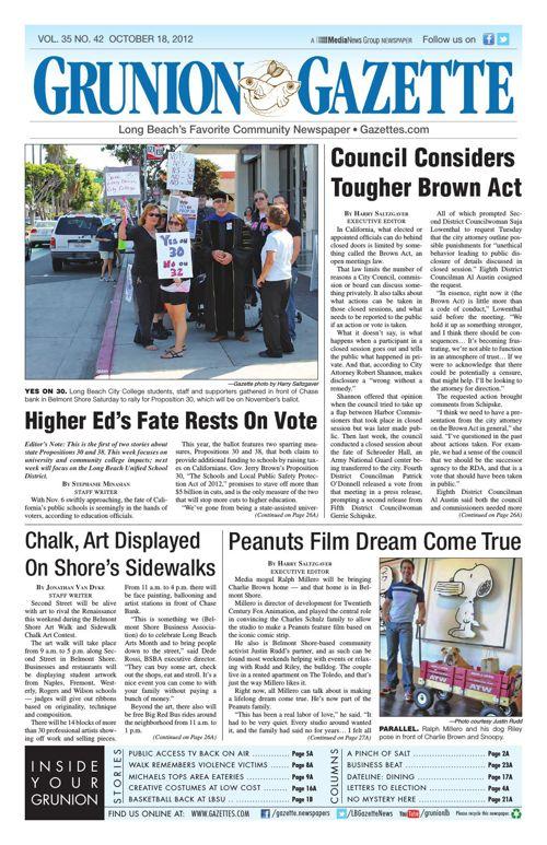 Grunion Gazette | October 18, 2012