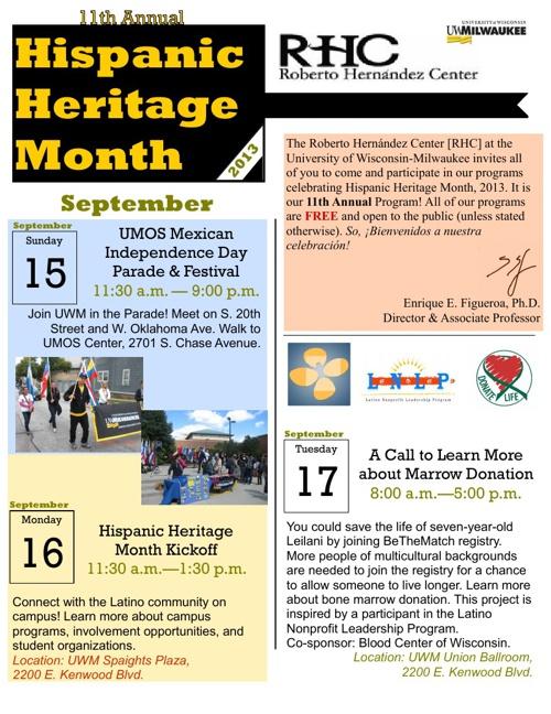 Hispanic Heritage Month at UWM