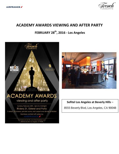Oscar viewing party - report - 02.28.16