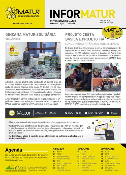 INFORMATUR Nº 79 - ABRI. MAI. JUN 2016