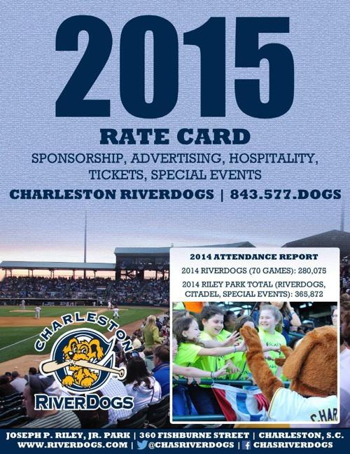 .2015 RiverDogs Sponsorship Rate Card