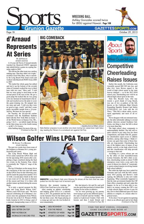 Gazette Sports | October 29, 2015