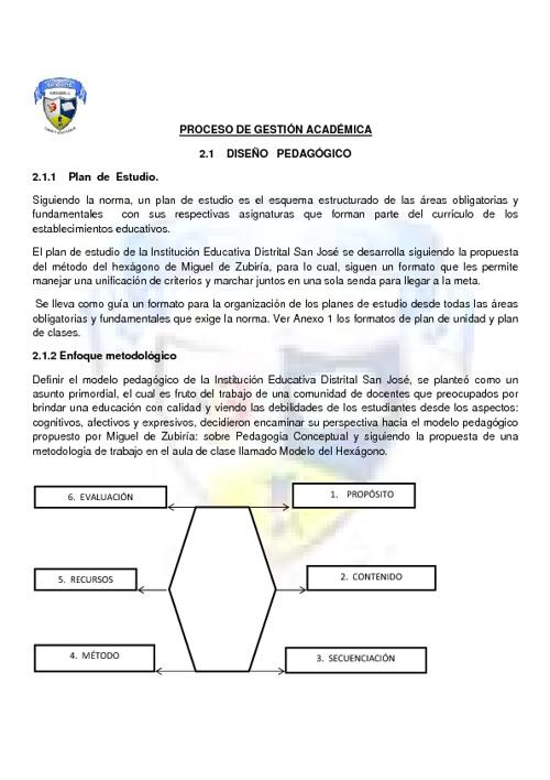 AVANCES DEL COMPONENTE PEDAGÓGICO - P.E.I  SAN JOSÉ
