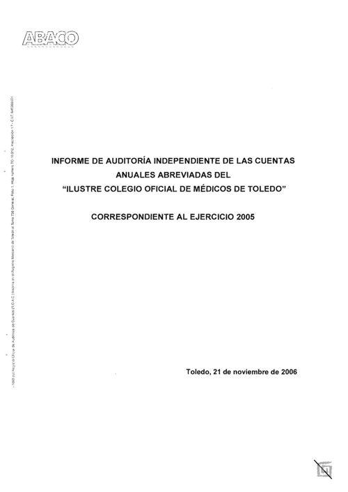 7b COMT-Informe de Auditoria 2005 (ABACO)
