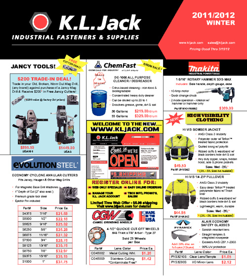 KL Jack's 2011/12 Winter Sales Flyer | KLJACK.com