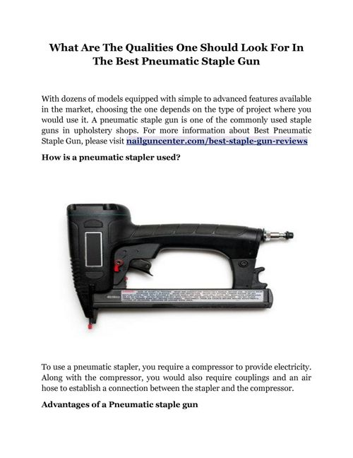 What Are The Qualities One Should Look For In The Best Pneum