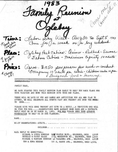 1st Oglebay Invitation