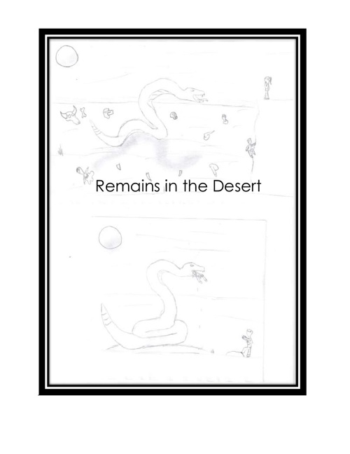 Remains in the desert