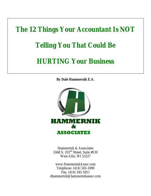 The 12 Things Your Accountant Is NOT Telling You