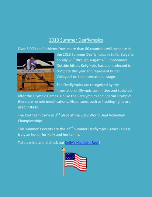 Butler Volleyball: March 2013 Newsletter