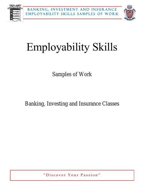 Employ Skills BI&Insurance MAR