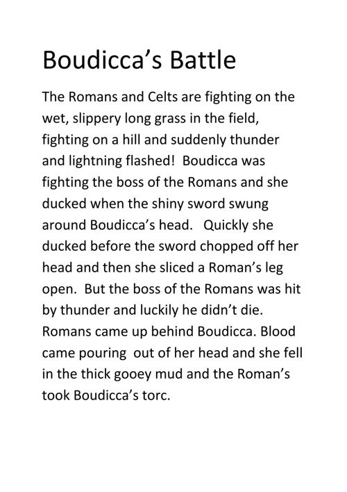Boudicca's Battle