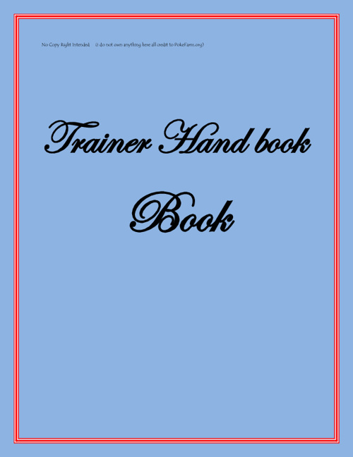 Pokefarm Trainer Hand Book